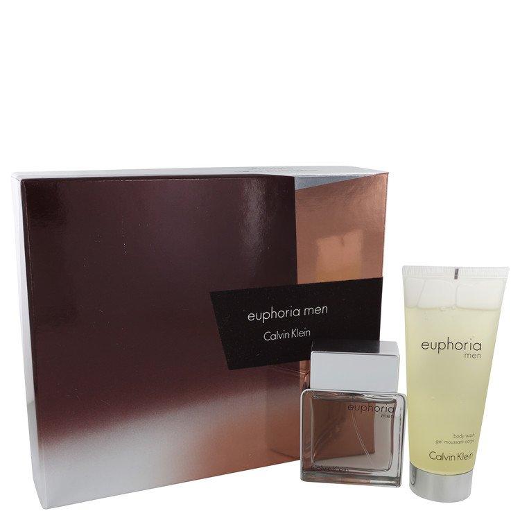 Euphoria by Calvin Klein for Men Gift Set -- 1.7 oz Eau De Toilette Spray + 3.4 oz Shower Gel