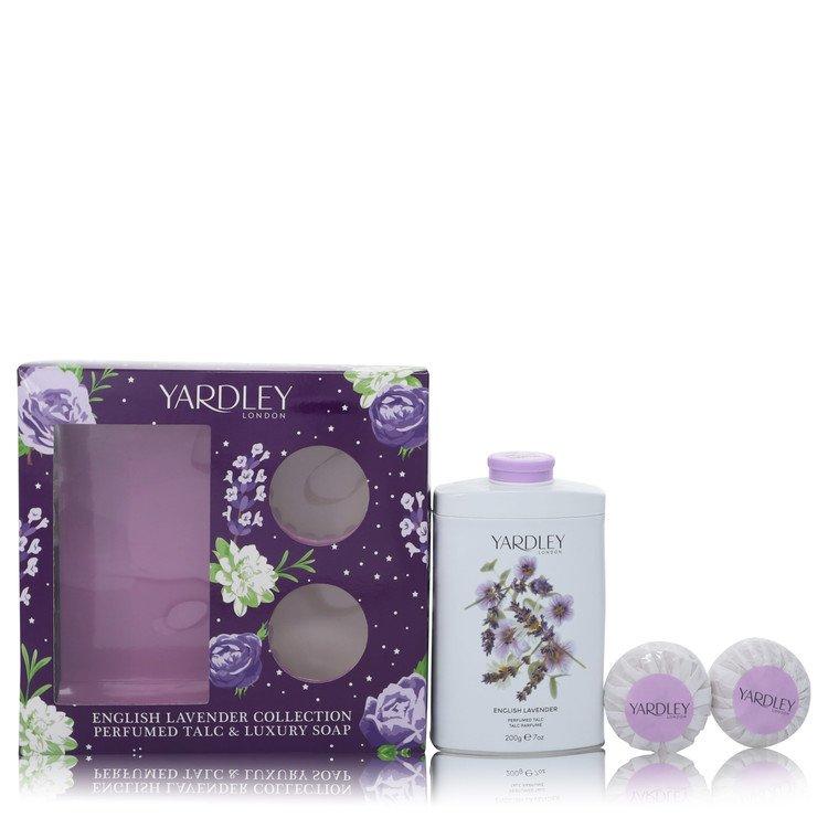English Lavender by Yardley London –  Gift Set — 7 oz Perfumed Talc + 2-3.5 oz Soap — for Women