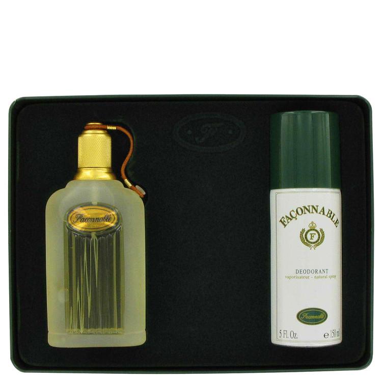 Faconnable Gift Set -- Gift Set - 3.3 oz Eau De Toilette Spray + 5 oz Deodorant Spray for Men