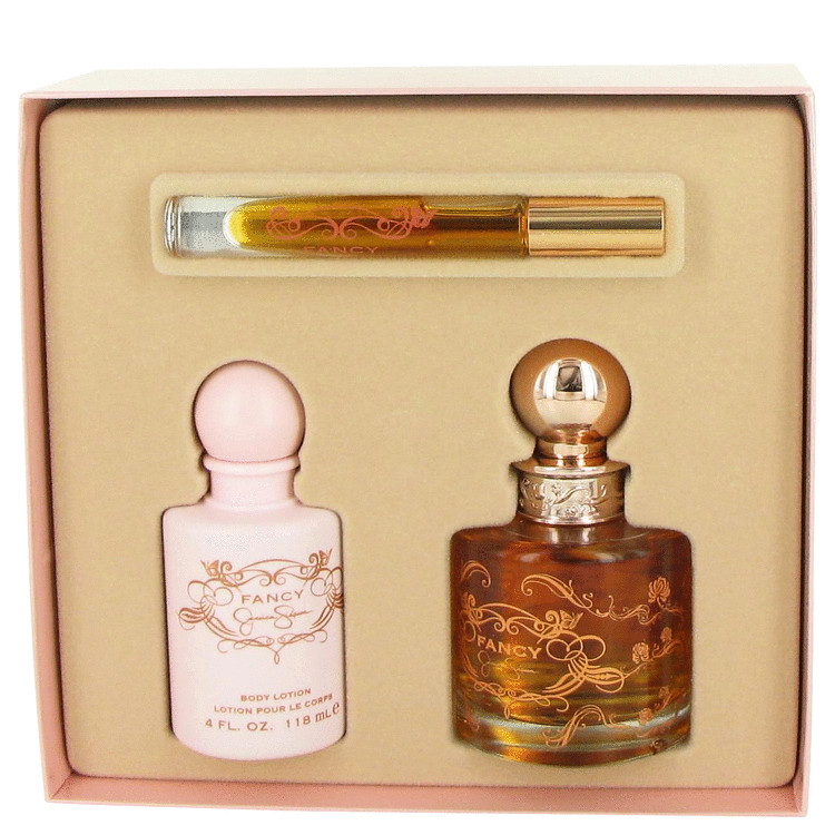 Fancy Gift Set -- Gift Set - 3.4 oz Eau De Parfum Spray + 4 oz Body Lotion + .2 oz EDP Roll-on for Women