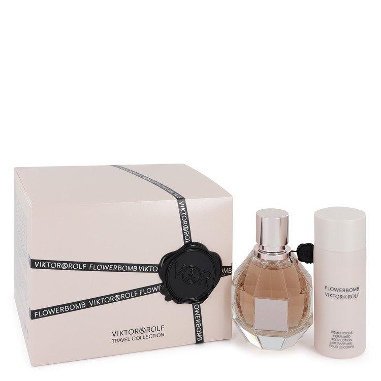 Flowerbomb by Viktor & Rolf for Women Gift Set -- 1.7 oz Eau De Parfum Spray + 1.7 oz Body Lotion