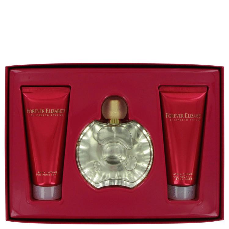 Forever Elizabeth Gift Set -- Gift Set - 3.3 oz Eau De Parfum Spray + 3.3 oz Body Lotion + 3.3 oz Shower Gel for Women