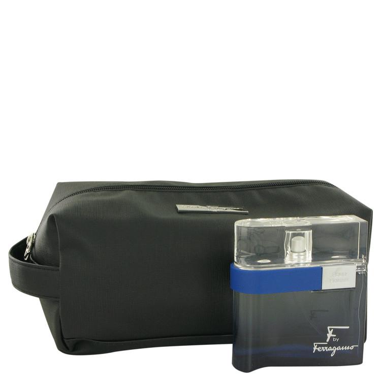 F Free Time Gift Set -- Gift Set - 3.4 oz Eau De Toilette Spray + Toiletry Bag for Men