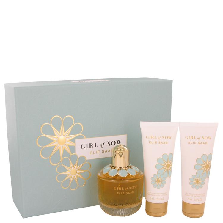 Girl of Now by Elie Saab for Women Gift Set -- 3 oz Eau De Parfum Spray + 2.5 oz Body Lotion + 2.5 oz Shower Gel