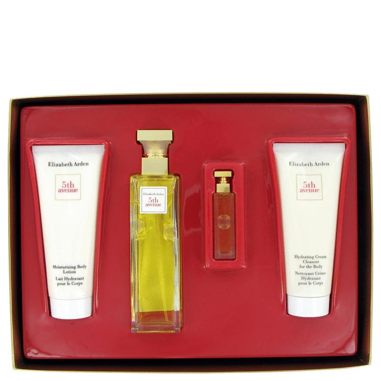 5th Avenue Gift Set -- Gift Set - 2.5 oz Eau De Parfum Spray + 3.3 oz Body Lotion Tube + 3.3 oz Hydrating Cream Cleanser + .12 Parfum for Women