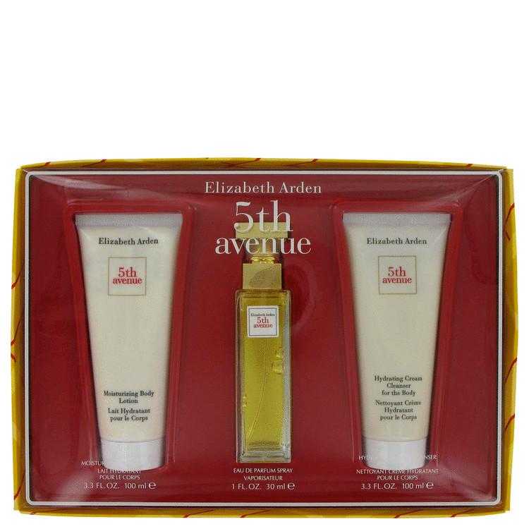 5th Avenue Gift Set -- Gift Set - 1 oz Eau De Parfum Spray + 3.3 oz Body Lotion + 3.3 oz Shower Gel for Women
