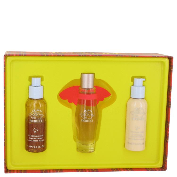 Fiorucci Gift Set -- Gift Set - 1.7 oz Eau De Toilette Spray + 2.5 oz Bubble Bath + 2.5 oz Body Milk for Women