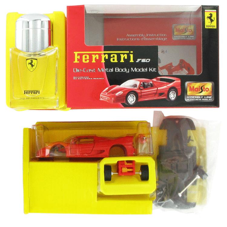 Ferrari Red Gift Set -- Gift Set - 1.4 oz Eau De Toilette Spray + Model Ferrari Car Kit for Men