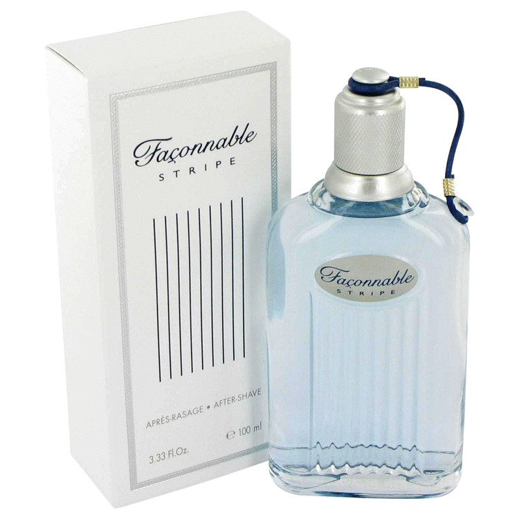 Faconnable Stripe After Shave by Faconnable 3.4 oz After Shave for Men