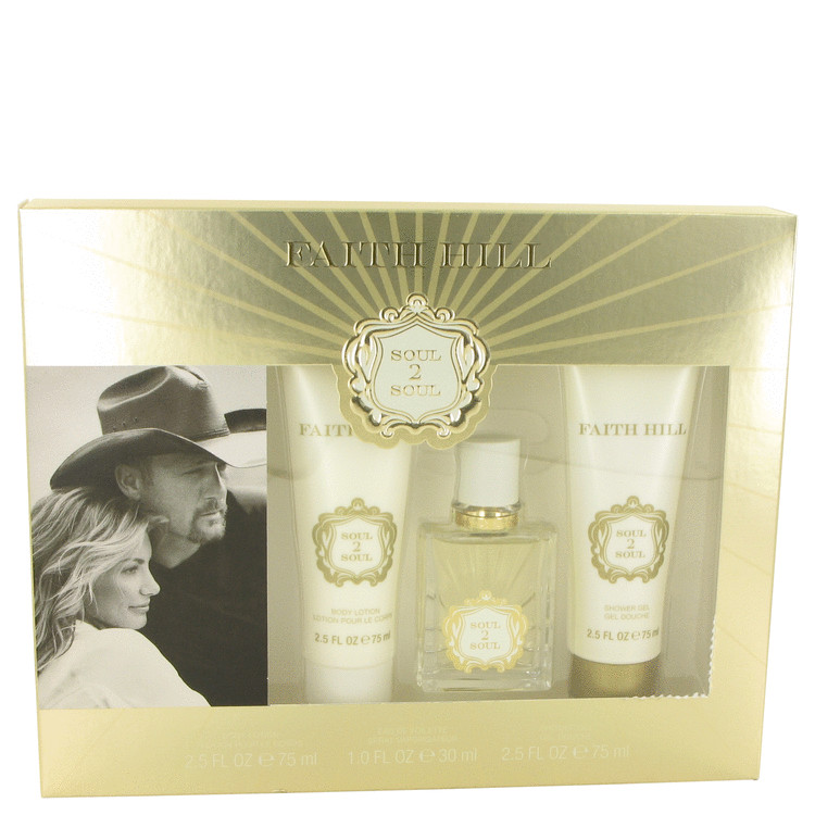 Soul 2 Soul Gift Set -- Gift Set - 1 oz Eau De Toilette Spray + 2.5 oz Body Lotion + 2.5 oz Shower Gel for Women