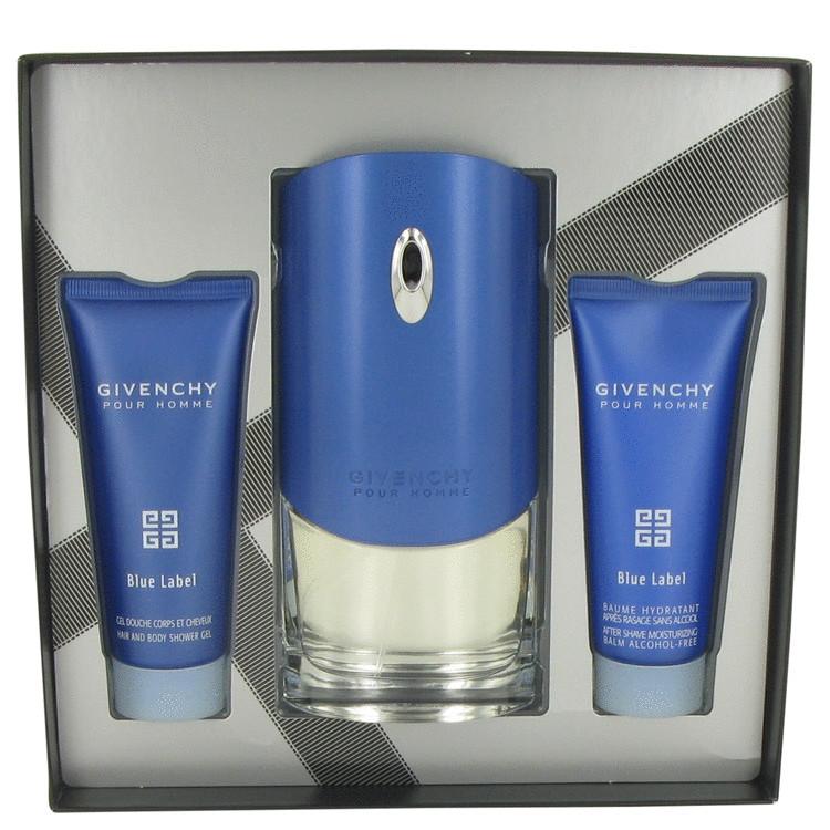 Givenchy Blue Label Gift Set -- Gift Set - 3.4 oz Eau De Toilette Spray + 2.5 oz After Shave Balm + 2.5 oz Shower Gel for Men