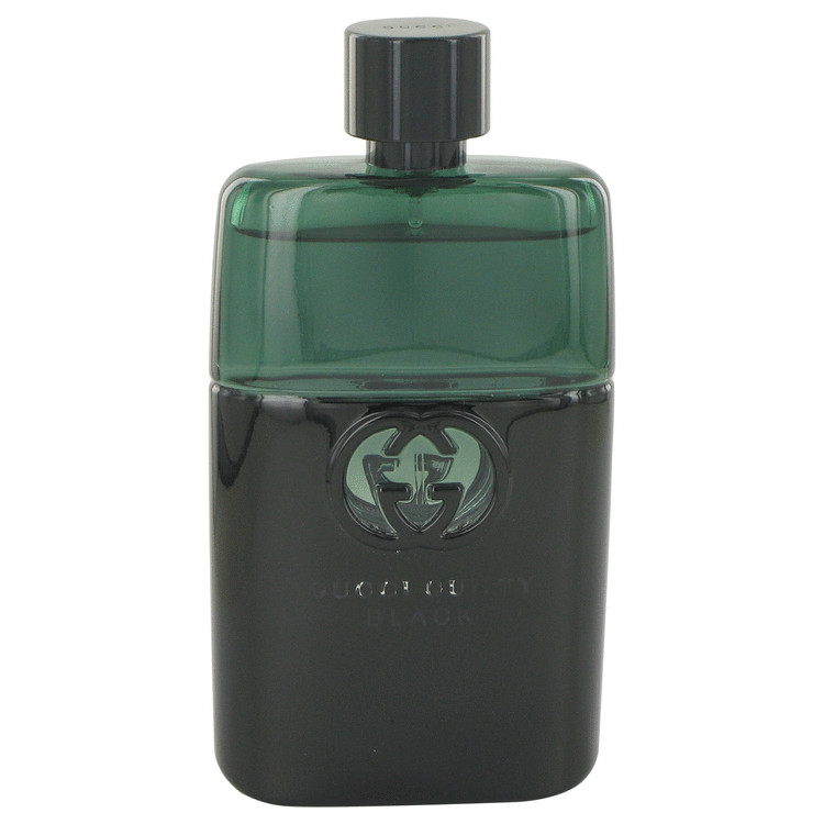 Gucci Guilty Black by Gucci for Men Eau De Toilette Spray (Tester) 3 oz