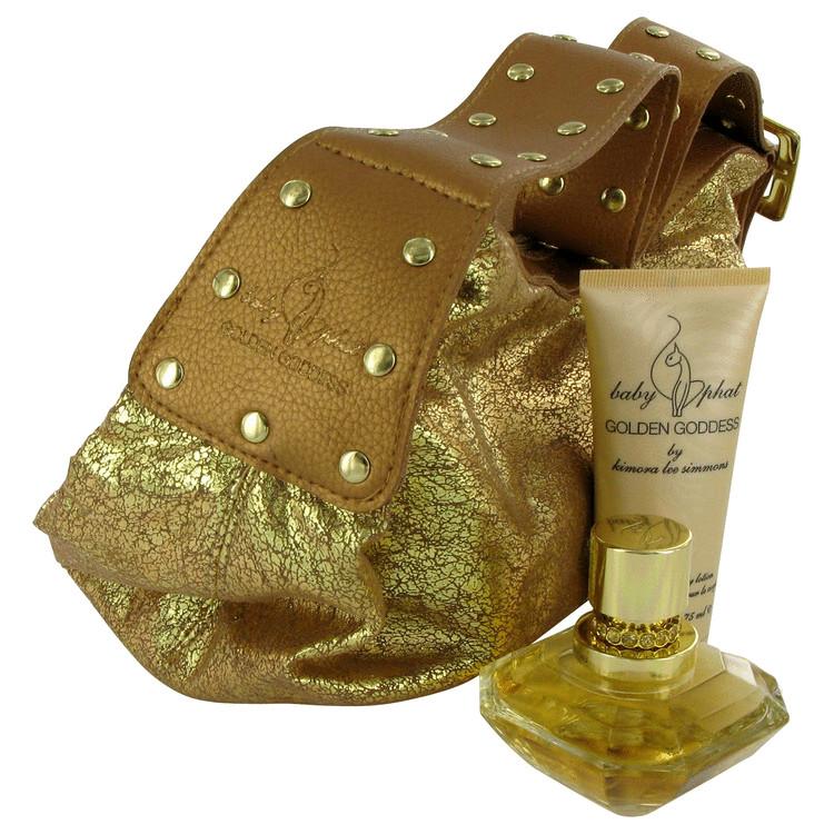 Golden Goddess for Women, Gift Set (1.7 oz EDP Spray + 2.5 oz Body Lotion + Handbag)