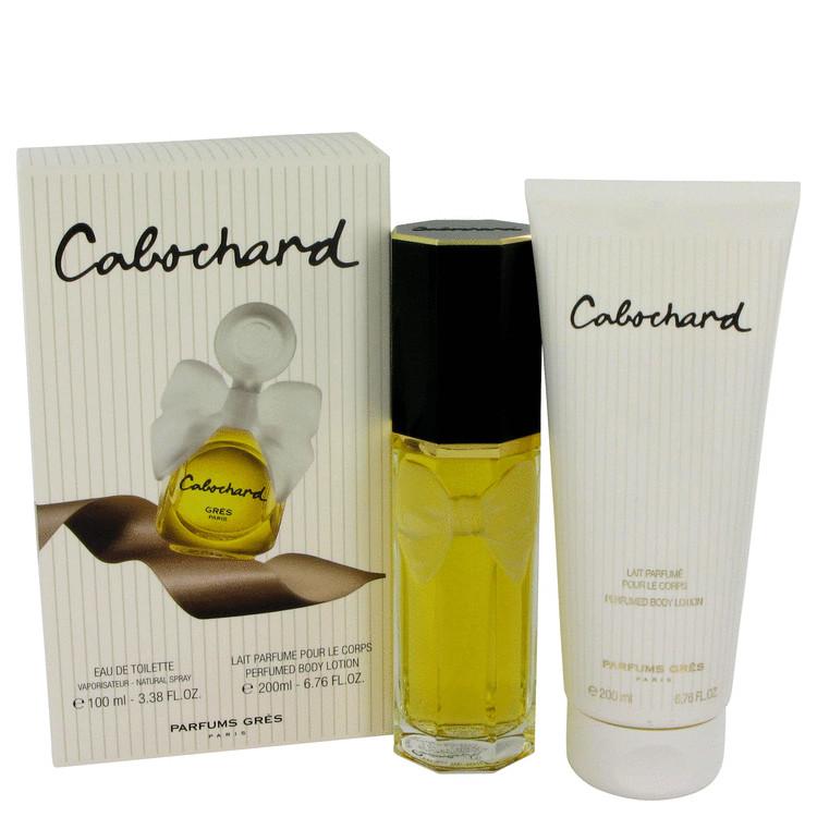 Cabochard Gift Set -- Gift Set - 3.4 oz Eau De Toilette Spray + 6.7 oz Body Lotion for Women
