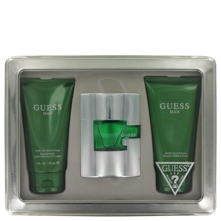 Guess (new) for Men, Gift Set (2.5 oz EDP Spray + 5 oz Hair & Body Wash + 5 oz After Sahve Balm)