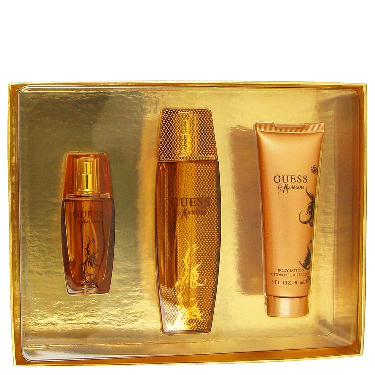 Guess Marciano Gift Set -- Gift Set - 3.4 oz Eau De Parfum Spray + 3.4 oz Body Lotion + 1 oz Eau De Parfum Spray for Women