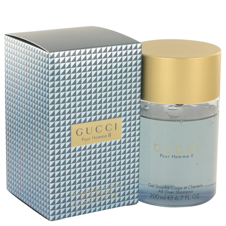 Gucci Pour Homme Ii Shower Gel 6.8 oz All Over Shampoo for Men