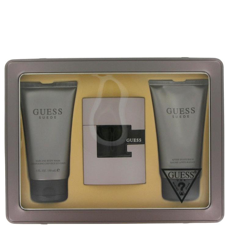 Guess Suede for Men, Gift Set (2.5 oz EDT Spray + 5 oz Body Wash + 5 oz After Shave Balm)