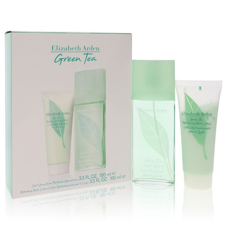 Green Tea Gift Set -- Gift Set - 3.3 oz Scent Spray  + 3.3 Body Lotion for Women