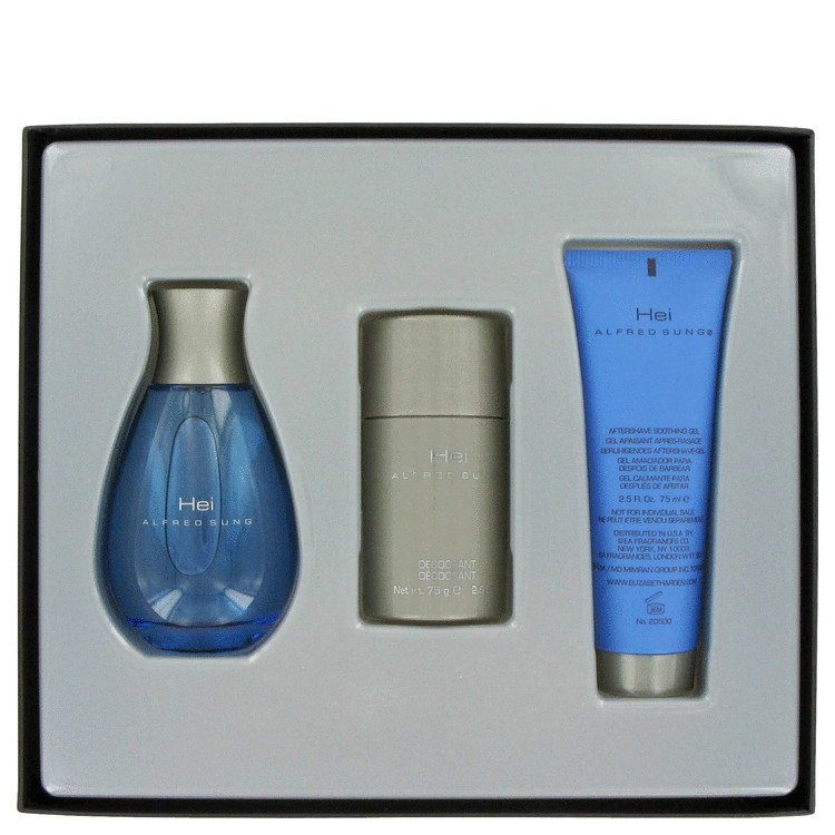 Hei Gift Set -- Gift Set - 3.4 oz Eau De Toilette Spray + 2.5 oz After Shave Gel + 2.6 oz Deodorant Stick for Men