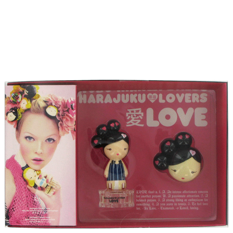 Harajuku Lovers Love for Women, Gift Set (.33 oz EDT Spray + Solid Perfume)
