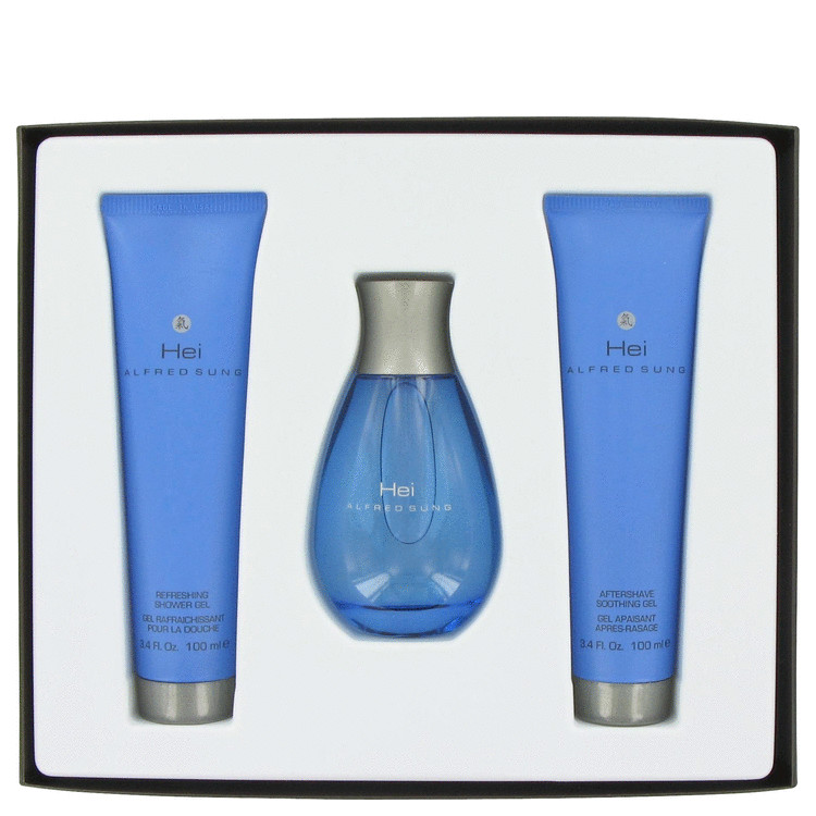 Hei Gift Set -- Gift Set - 3.4 oz Eau De Toilette Spray + 3.4 oz Shower Gel + 3.4 oz Aftershave  Gel for Men