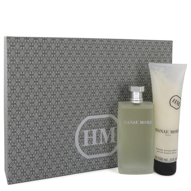 Hanae Mori Gift Set -- Gift Set - 3.4 oz Eau De Toilette Spray +5 oz After Shave Balm for Men