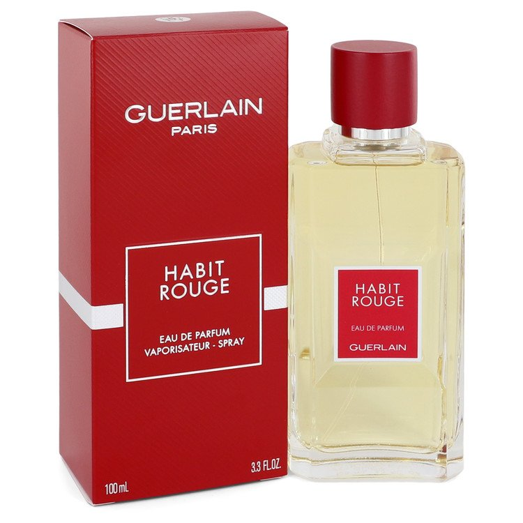 HABIT ROUGE by Guerlain –  Eau De Parfum Spray 3.3 oz 100 ml for Men