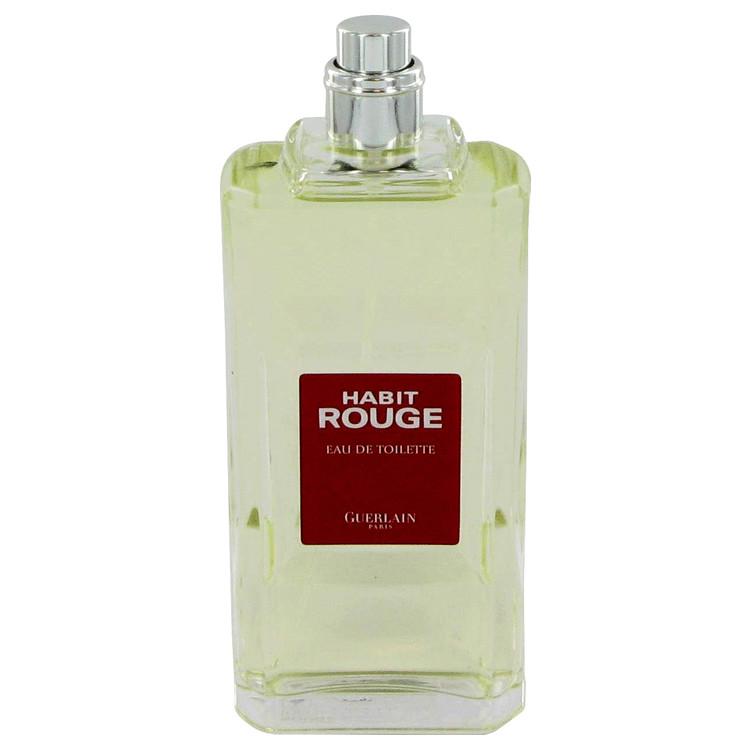 HABIT ROUGE by Guerlain for Men Eau De Toilette Spray (Tester) 3.4 oz