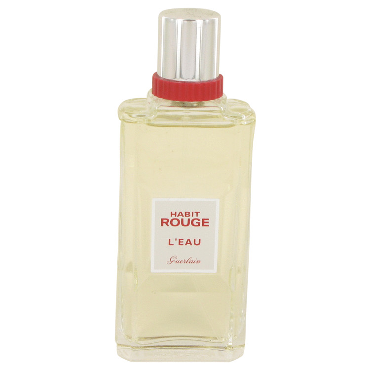 Habit Rouge L'eau by Guerlain Men's Eau De Toilette Spray (unboxed) 3.3 oz