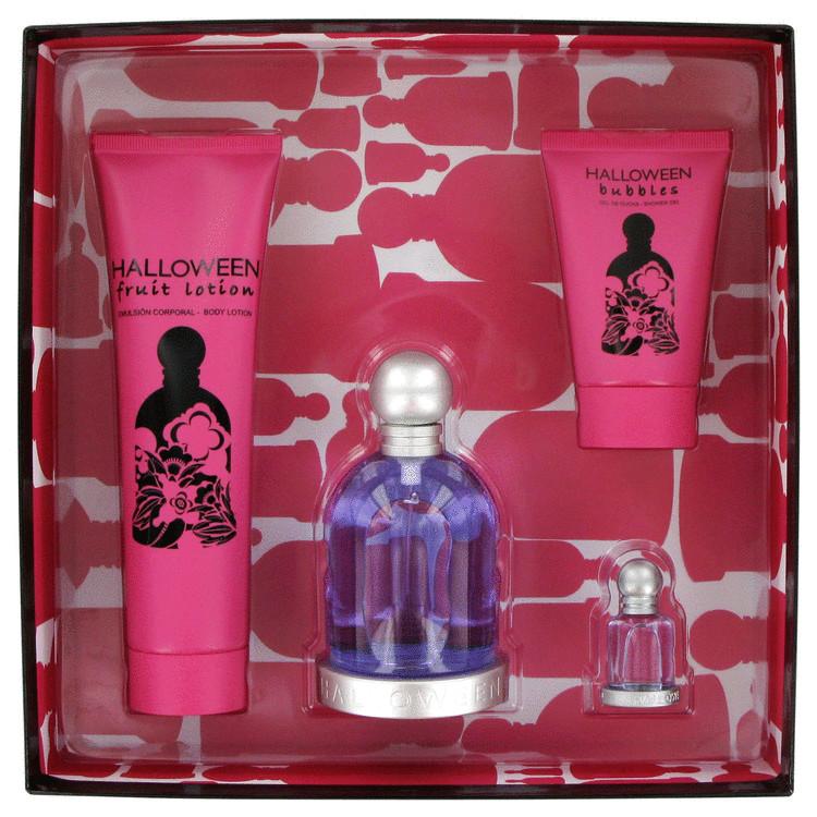 Halloween Gift Set -- Gift Set - 3.4 oz Eau De Toilette Spray + 5 oz Body Lotion + 1.7 oz Shower Gel + .15 oz Mini EDT for Women
