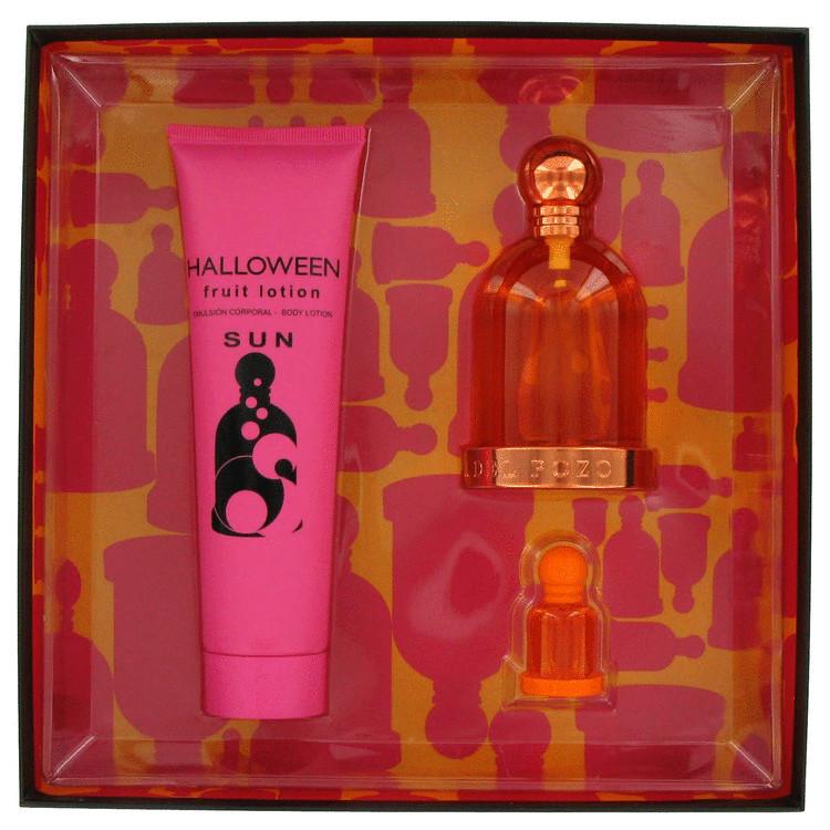 Halloween Sun Gift Set -- Gift Set - 3.4 oz Eau De Toilette Spray + 5.0 oz Body Lotion + .15 oz Mini EDT for Women