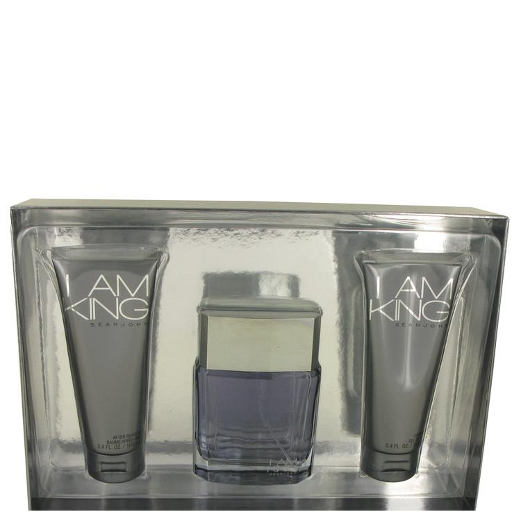 I Am King for Men, Gift Set (3.4 oz EDT Spray + 3.4 oz After Shave Balm + 3.4 oz Shower Gel)