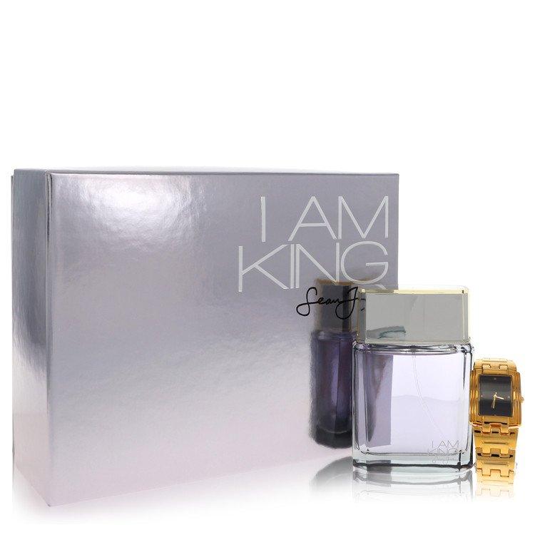 I Am King Gift Set -- Gift Set - 3.4 oz Eau De Toilette Spreay + Watch for Men
