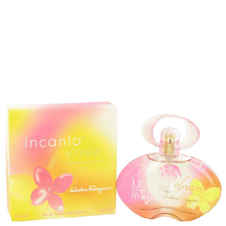 Incanto Dream by Salvatore Ferragamo for Women Eau De Toilette Spray (Golden Edition) 3.4 oz