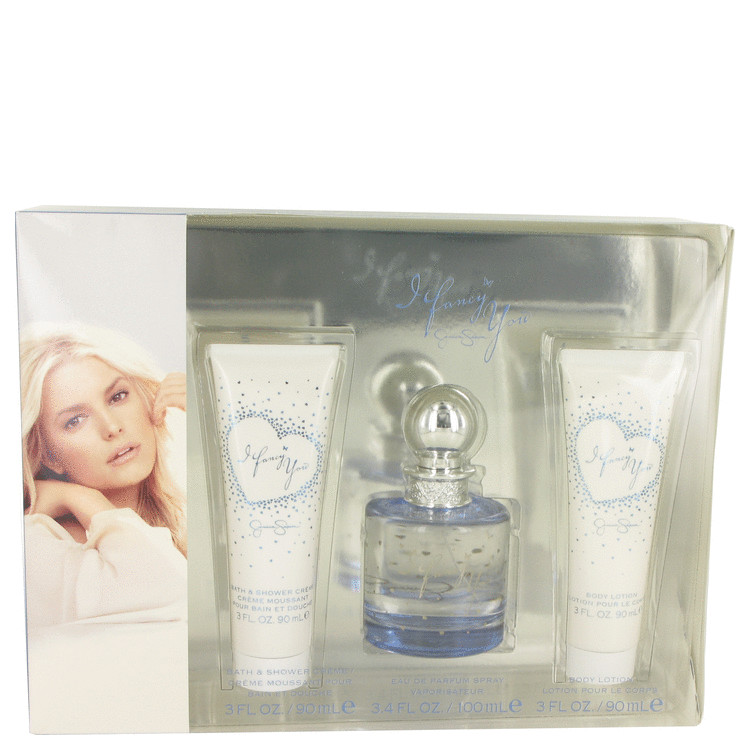 I Fancy You Gift Set -- Gift Set - 3.4 oz Eau De Parfum Spray + 3 oz Shower Gel + 3 oz Body Lotion for Women