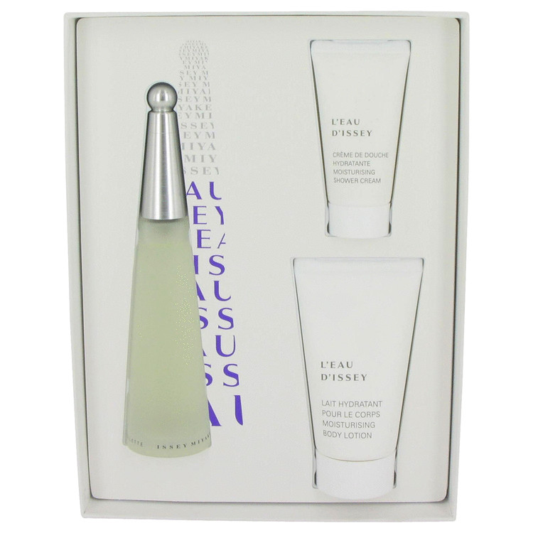 L'eau D'issey (issey Miyake) for Women, Gift Set (3.4 oz EDT Spray + 2.5 oz Body Cream + 1 oz Shower Cream)