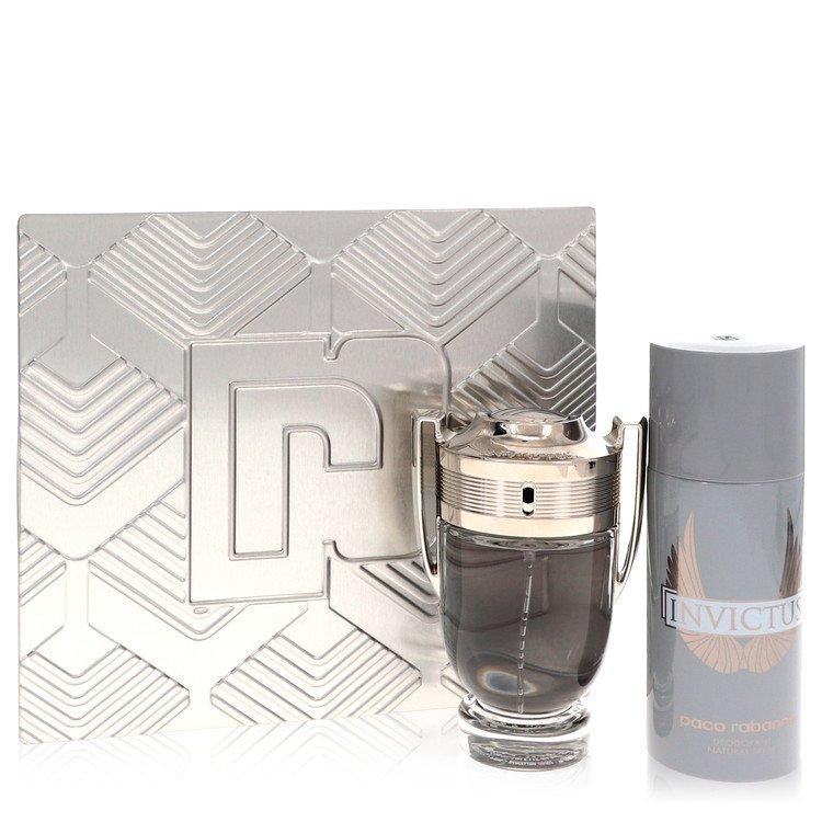Invictus Gift Set -- Gift Set - 3.4 oz Eau De Toilette Spray + 5.1 oz Deodorant Spray for Men