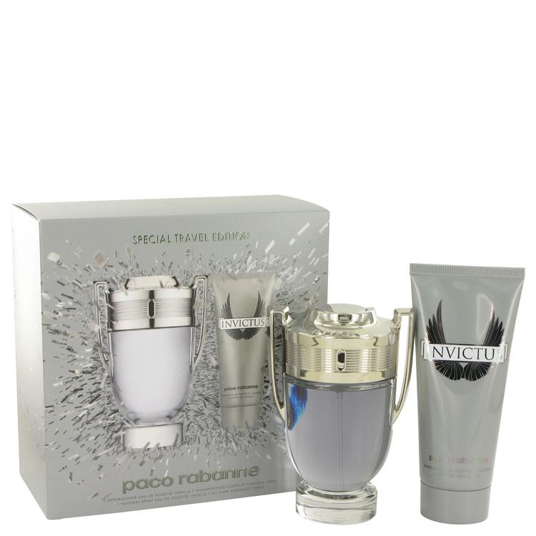 Invictus Gift Set -- Gift Set - 3.4 oz Eau De Toilette Spray + 3.4 oz Shower Gel for Men