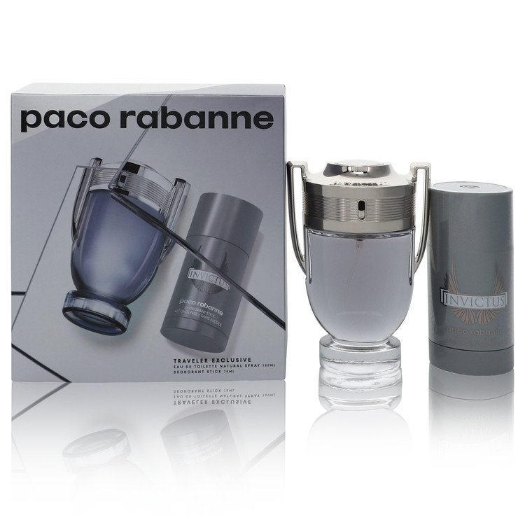 Paco Rabanne Invictus for Men, Gift Set (3.4 oz EDT Spray + 2.5 oz Deodorant Stick)