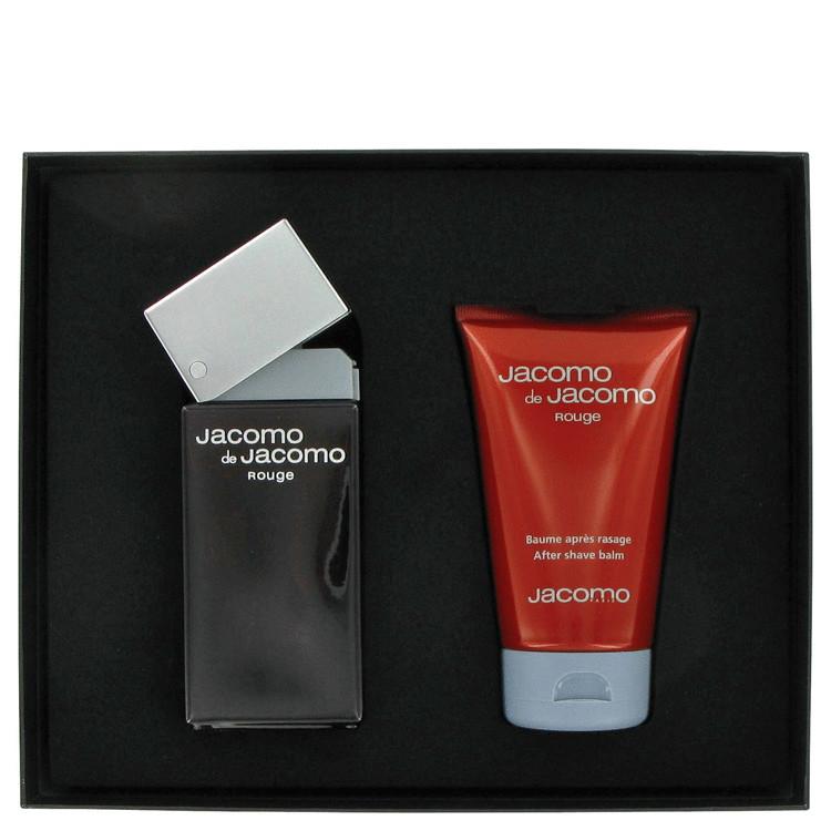 Jacomo De Jacomo Rouge for Men, Gift Set (3.4 oz EDT + 3.4 oz After Shave Balm)