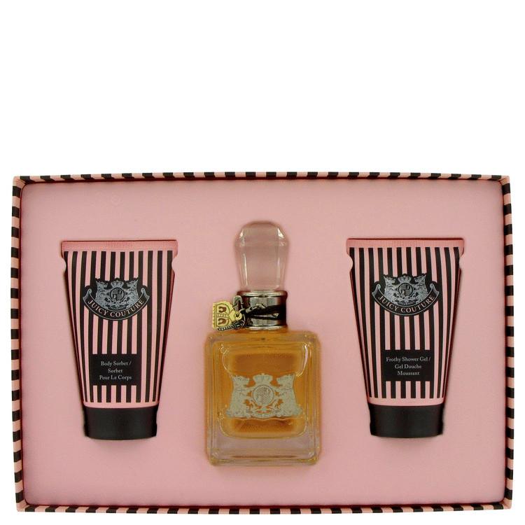 Juicy Couture Gift Set -- Gift Set - 3.4 oz Eau De Parfum Spray + 4.2 oz Body Sorbet + 4.2 oz Shower Gel for Women