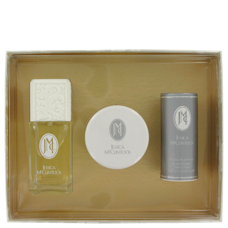 Jessica Mc Clintock Gift Set -- Gift Set - 3.4 oz Eau De Parfum Spray + 3.5 oz Body Cream + 2 oz Body Powder for Women