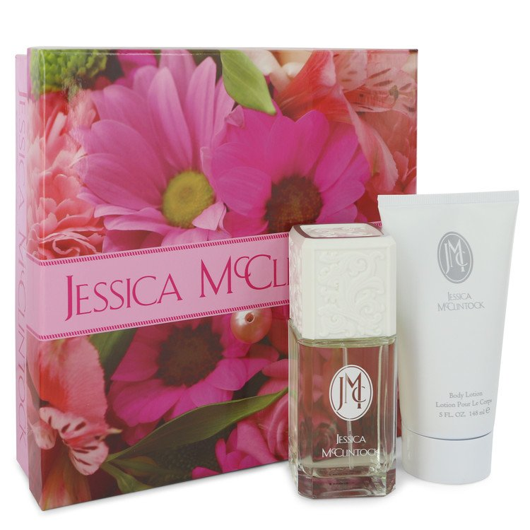 Jessica Mc Clintock Gift Set -- Gift Set - 3.4 oz Eau De Parfum Spray + 5 oz Body Lotion for Women