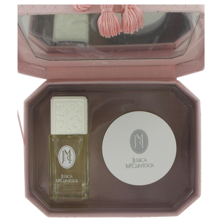 Jessica Mc Clintock Gift Set -- Gift Set - 3.4 oz Eau De Parfum Spray + 6.7 oz Body Cream in Elegant Keep Sake Jewelry Box for Women