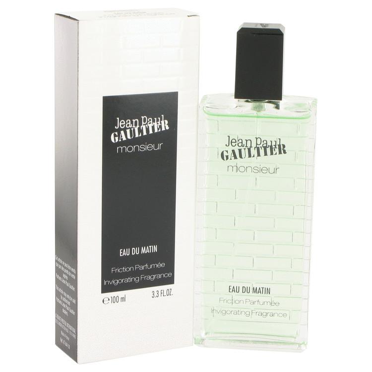 Jean Paul Gaultier Monsieur Eau Du Matin Cologne 100 ml Friction Parfumee Invigorating Fragrance for Men