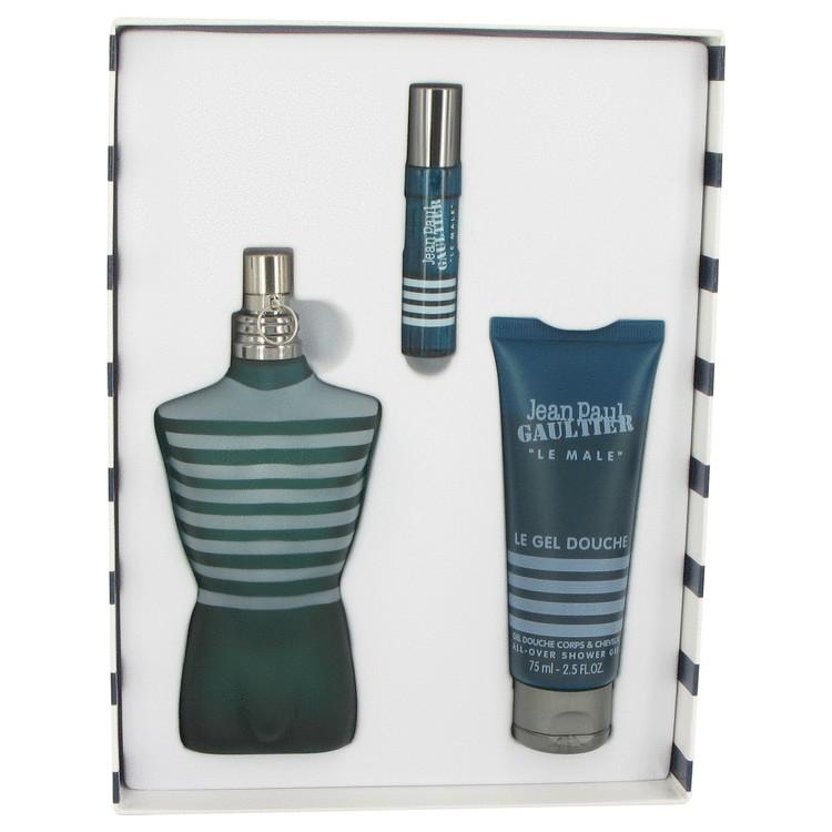 Jean Paul Gaultier for Men, Gift Set (4.2 oz EDT Spray + 0.3 oz Mini EDT + 2.5 oz Shower Gel)