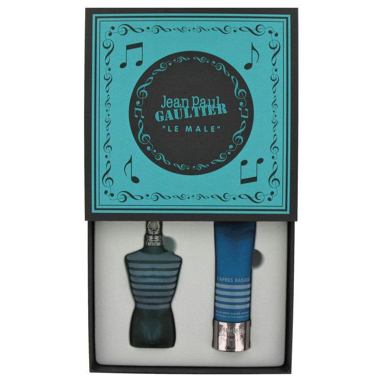Jean Paul Gaultier for Men, Gift Set (2.5 oz EDT Spray + 3.3 oz After Shave Balm + Music Box)