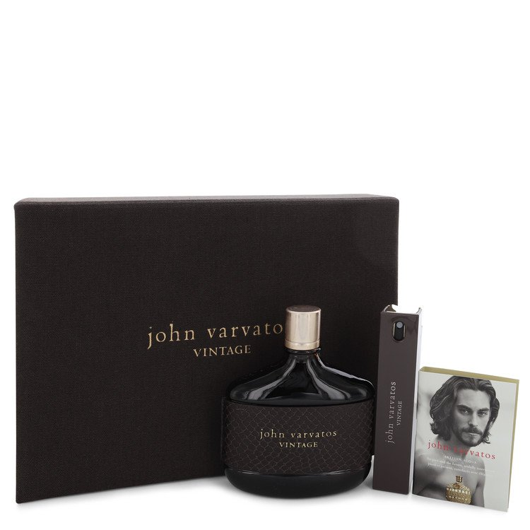 John Varvatos Vintage Gift Set -- Gift Set - 4.2 oz Eau De Toilette Spray + 0.57 oz Mini EDT Spray + 0.05 oz Vial (sample) for Men