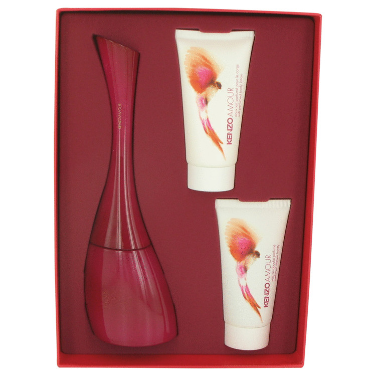 Kenzo Amour for Women, Gift Set (3.4 oz EDP Spray + 1.7 oz Shower Gel + 1.7 oz Body Lotion)